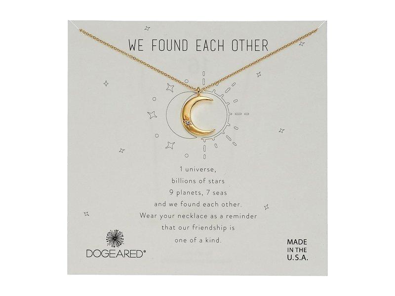 ドジャード レディース レディース ネックレス・チョーカー アクセサリー・ペンダントトップ アクセサリー Necklace We Found Each Other, Crecent Moon with Crystal Necklace Gold, 買いもんどころ:d2a44fe5 --- idia-africa.com