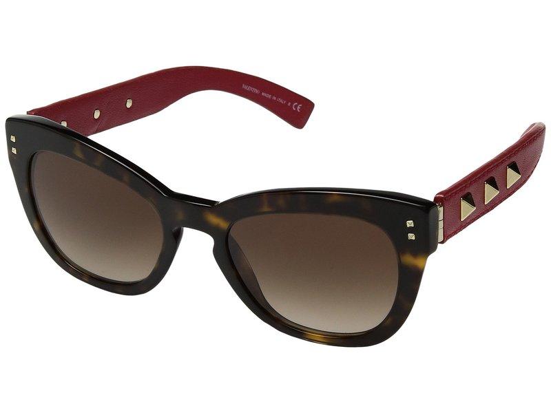 ヴァレンティノ レディース サングラス・アイウェア アクセサリー 0VA4037 Havana/Red Leather/Brown Gradient