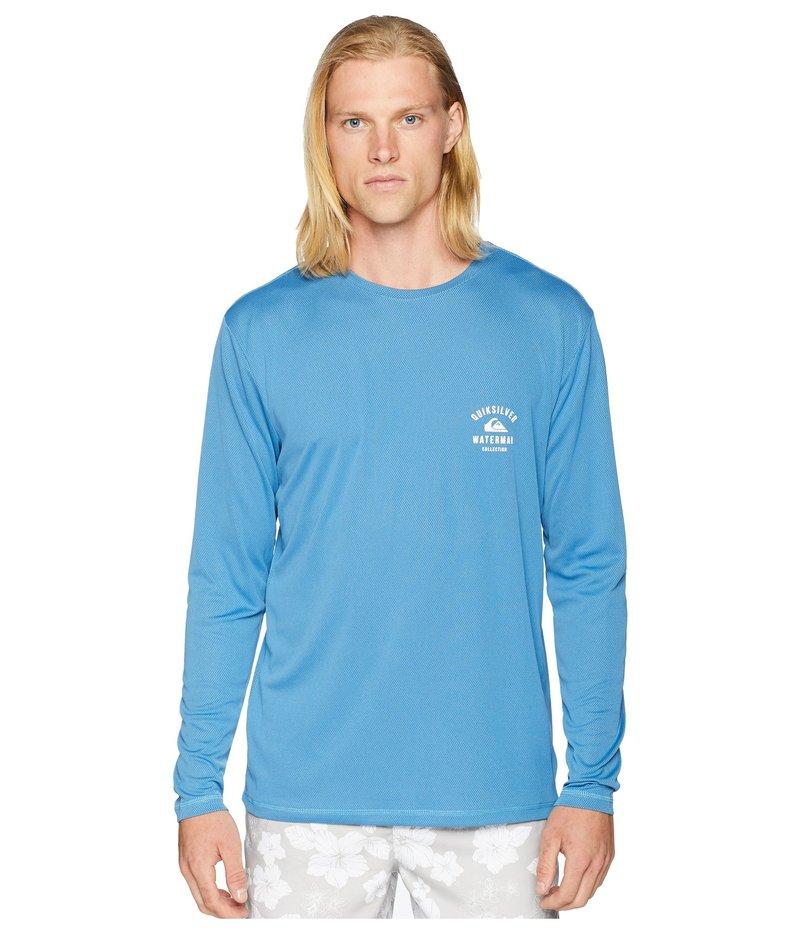 クイックシルバー ウォーター マン メンズ シャツ トップス Gut Check Amphibian Long Sleeve Rashguard Pasisian Blue