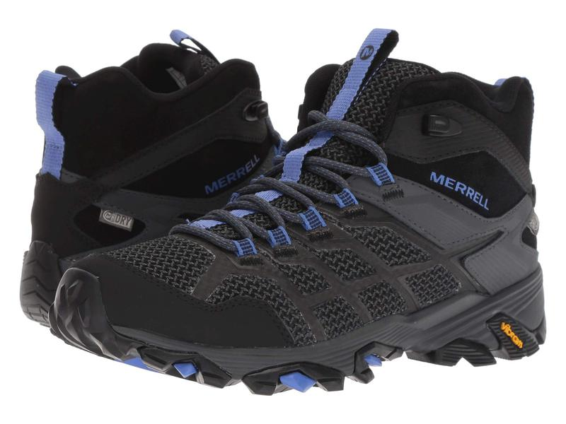 メレル レディース ブーツ・レインブーツ シューズ Moab FST 2 Mid Waterproof Black/Granite