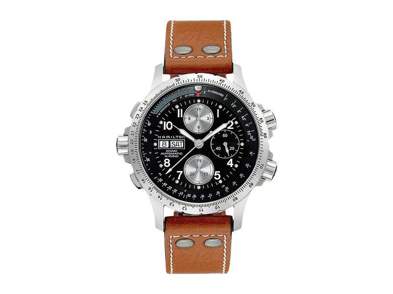 ハミルトン メンズ 腕時計 アクセサリー Khaki X-Wind - H77616533 Black