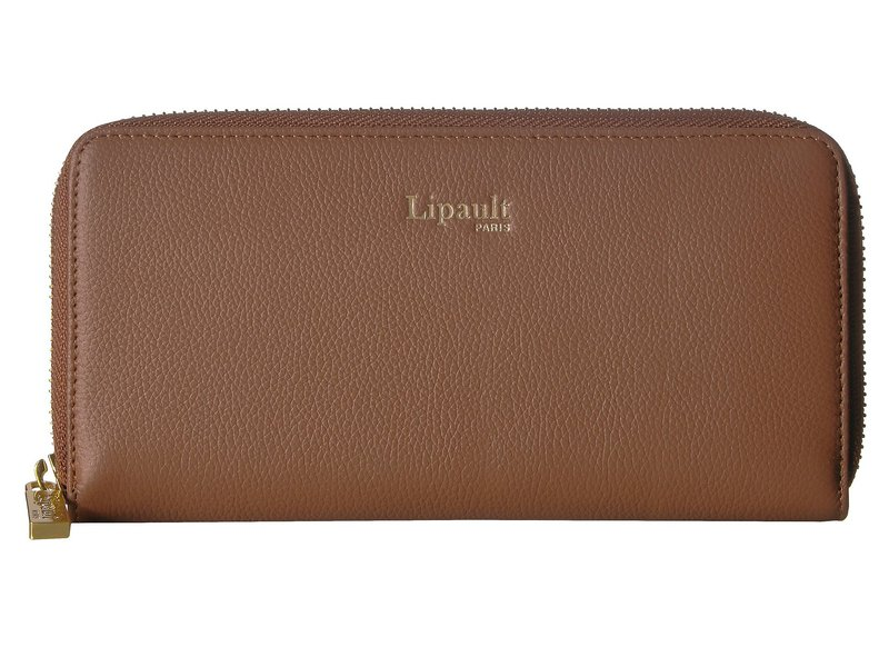 リパルトパリ レディース 財布 アクセサリー Plume Elegance Leather Zip Around Wallet Cognac