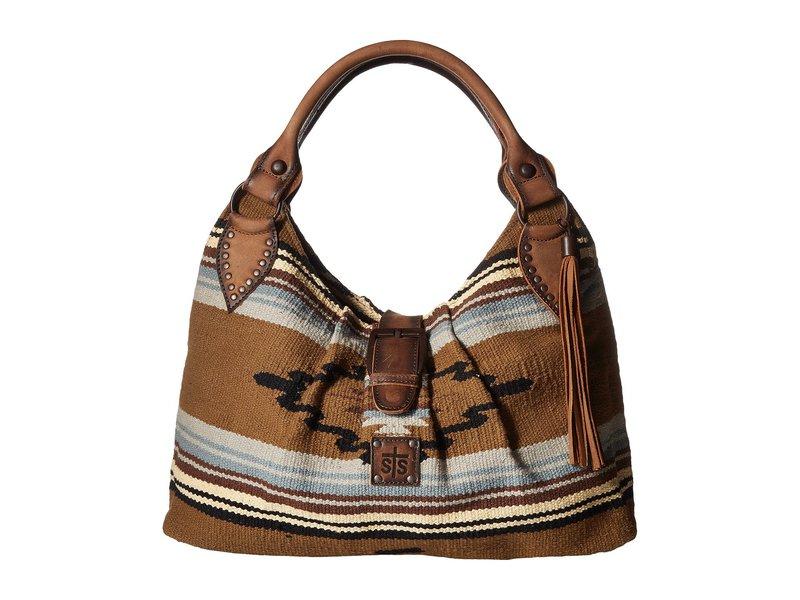エスティエスランチウェア レディース ハンドバッグ バッグ Serape Slouch Bag Olive Serape/Tornado Brown