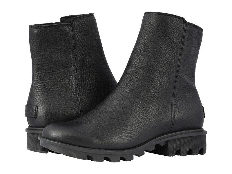 ソレル レディース ブーツ・レインブーツ シューズ Phoenix Zip Black Full Grain Leather