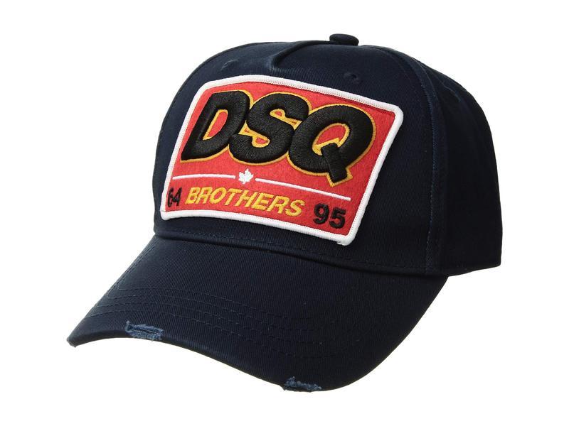 ディースクエアード メンズ 帽子 アクセサリー Brothers Baseball Cap Navy