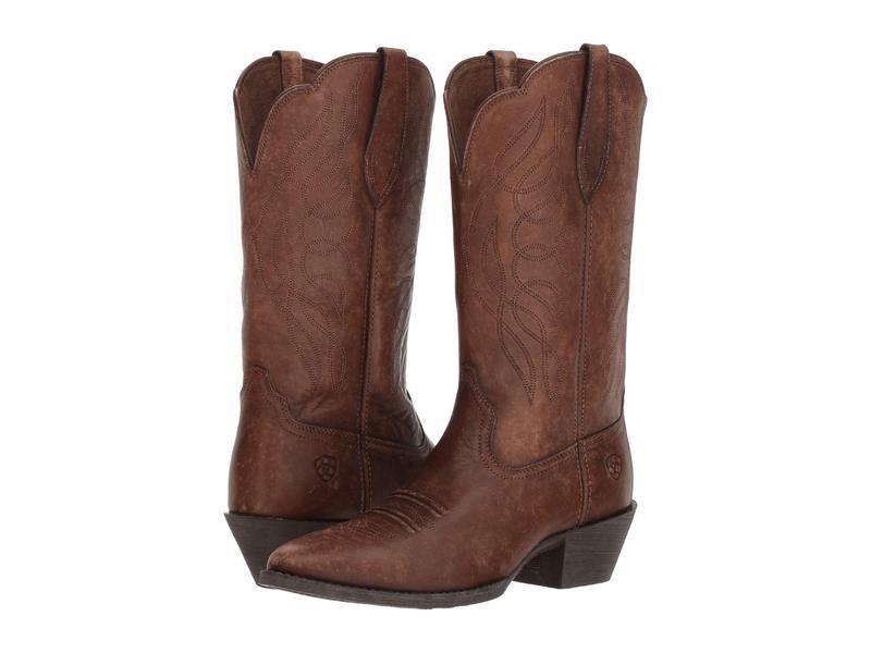アリアト レディース ブーツ・レインブーツ シューズ Heritage Western R Toe Naturally Distressed Brown