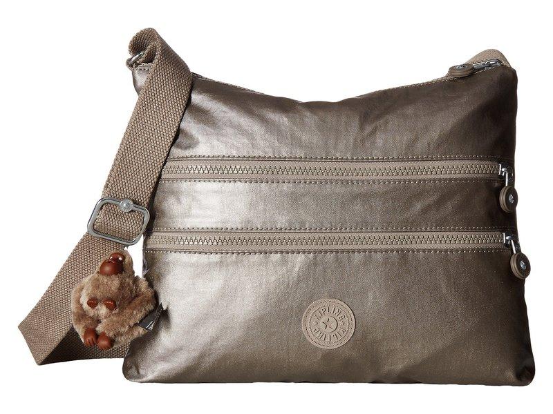 キプリング レディース ハンドバッグ バッグ Alvar Crossbody Bag Metallic Pewter