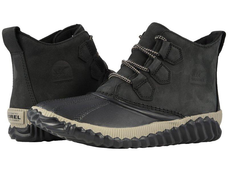 ソレル レディース ブーツ・レインブーツ シューズ Out 'N About Plus Black Full Grain Leather