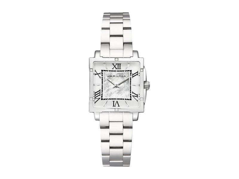 ハミルトン レディース 腕時計 アクセサリー Jazzmaster Square Lady - H32291114 Silver