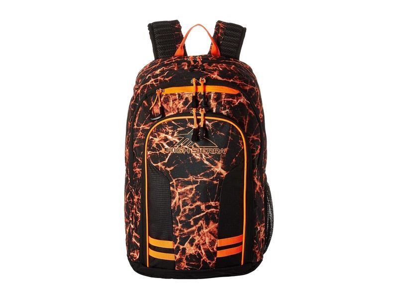 ハイシエラ メンズ バックパック・リュックサック バッグ Blaise Backpack Fireball/Black/Electric Orange