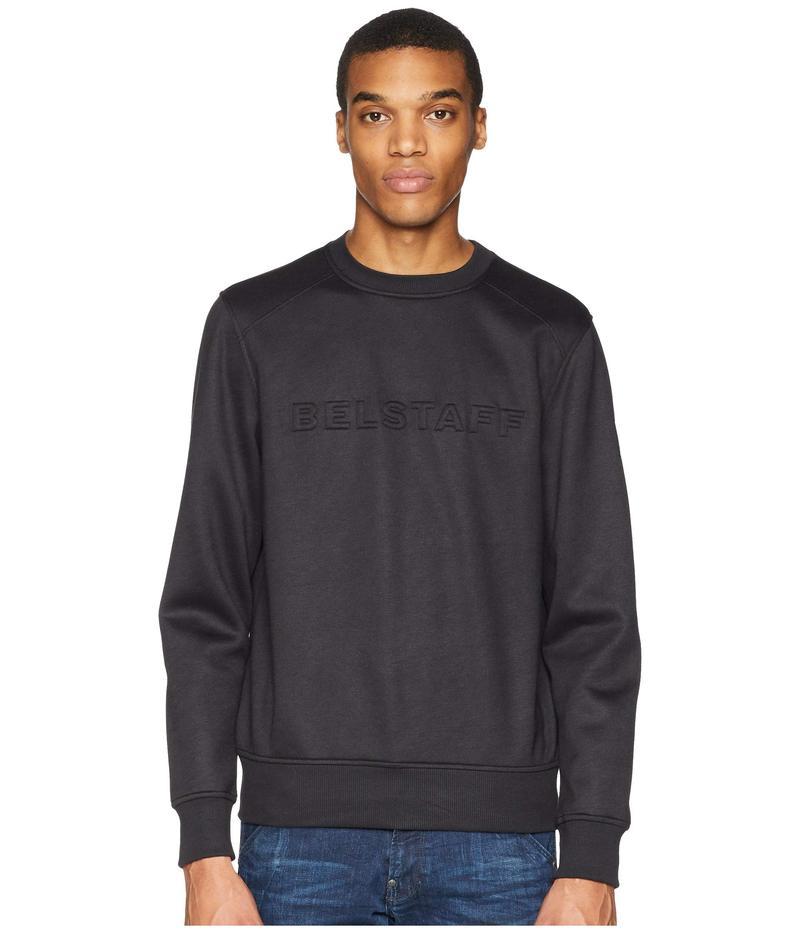 ベルスタッフ メンズ パーカー・スウェット アウター Belsford Lightweight Neoprene Sweatshirt Black
