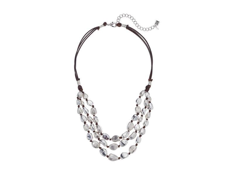 ロバートリーモリス レディース ネックレス・チョーカー・ペンダントトップ アクセサリー Silver Beaded Multi-Row Necklace Soft Silver