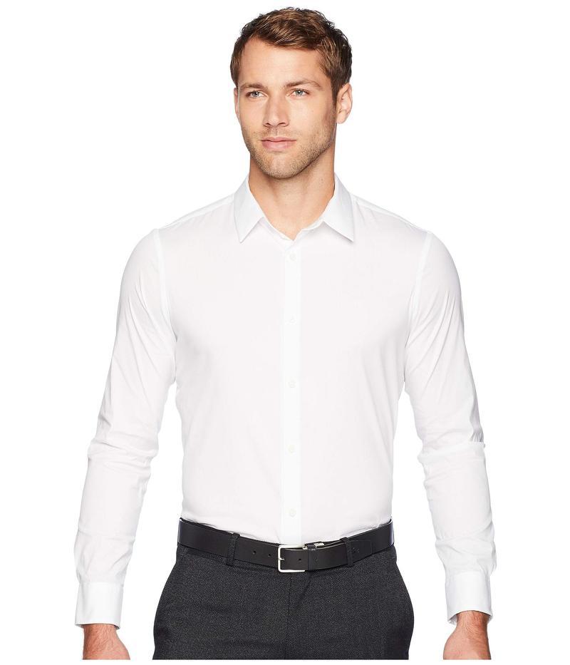 カルバンクライン メンズ シャツ トップス The Stretch-Cotton Shirt Standard White
