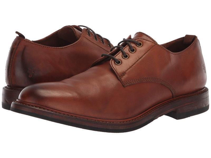 フライ メンズ オックスフォード シューズ Murray Oxford Cognac Washed Dip-Dye Leather