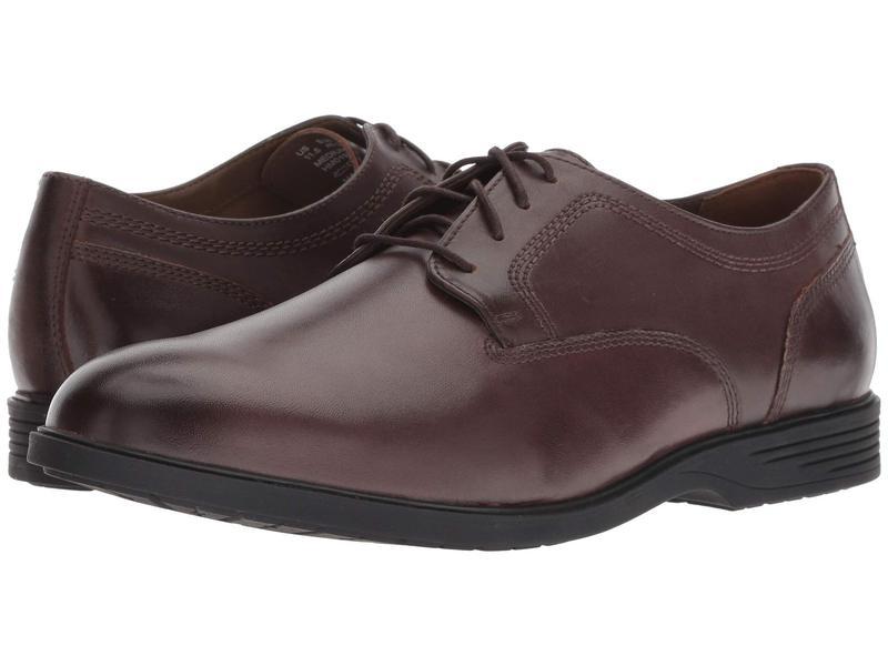 ハッシュパピー メンズ オックスフォード シューズ Shepsky PT Oxford Dark Brown Leather