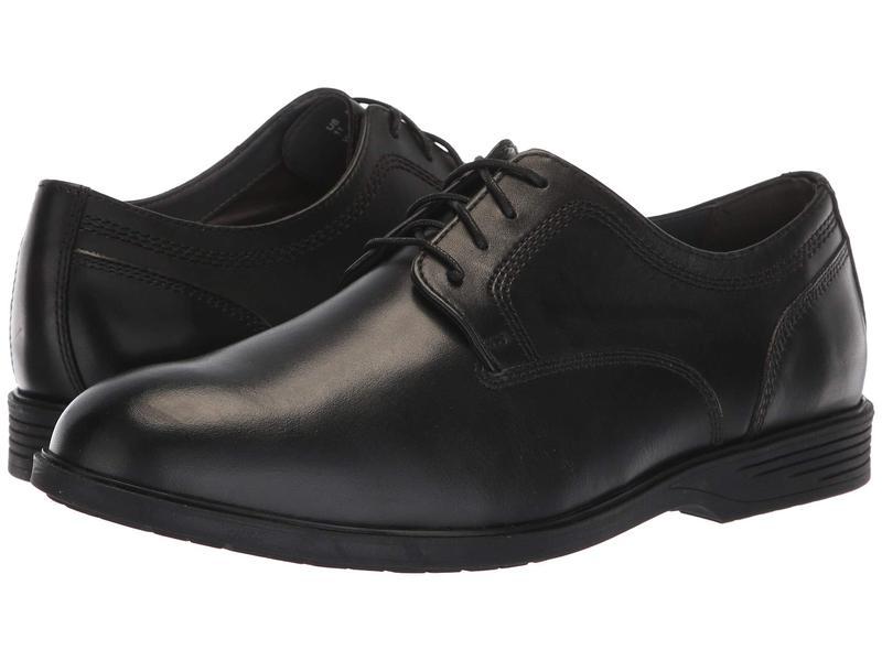 ハッシュパピー メンズ オックスフォード シューズ Shepsky PT Oxford Black Leather
