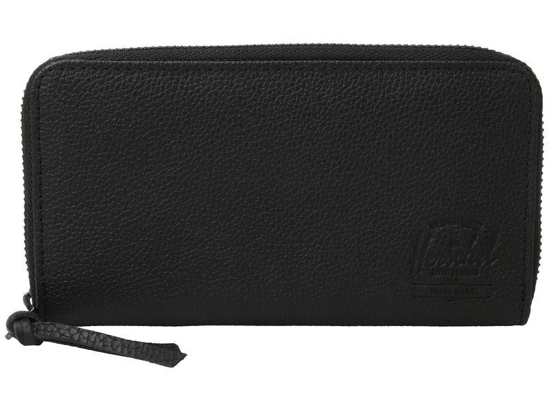 ハーシェルサプライ メンズ 財布 アクセサリー Thomas Leather (Update) RFID Black Pebbled Leather