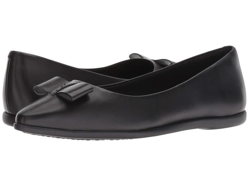 コールハーン レディース サンダル シューズ 3.Zerogrand Bow Skimmer Black Leather