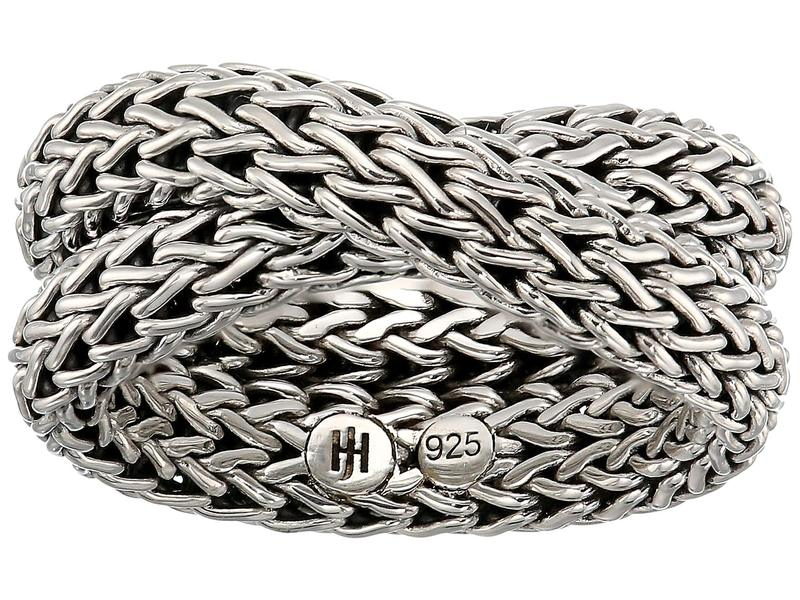 ジョン・ハーディー レディース リング アクセサリー Classic Chain Intersect Chain Ring Silver