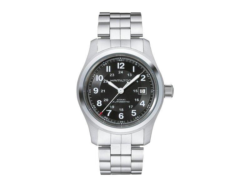 ハミルトン メンズ 腕時計 アクセサリー Khaki Field Auto 42mm - H70515137 Black