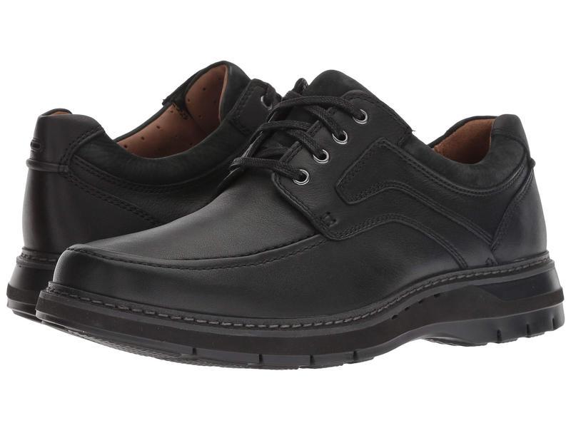 クラークス メンズ オックスフォード シューズ Un Ramble Lace Black Tumbled Leather