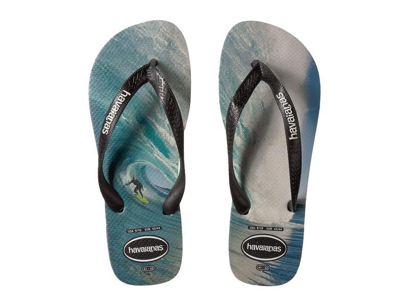 ハワイアナス メンズ サンダル シューズ Top Photoprint Sandal Black/Blue