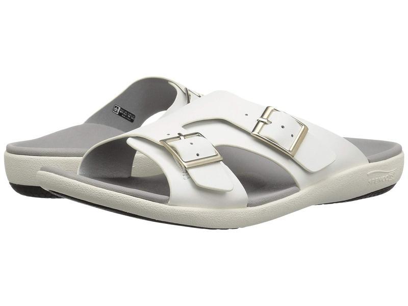 スペコ レディース サンダル シューズ Brighton Slide Sandal White Mist