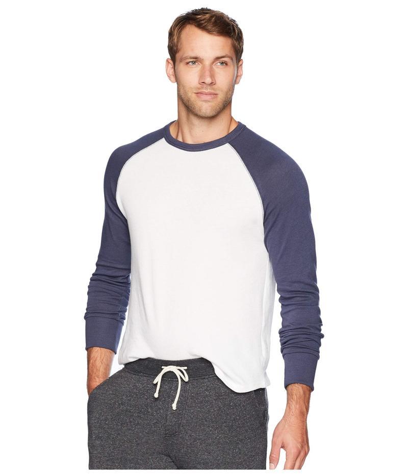 オルタナティヴ メンズ ニット・セーター アウター Vintage Heavy Knit Pullover Sweater White/Dark Navy