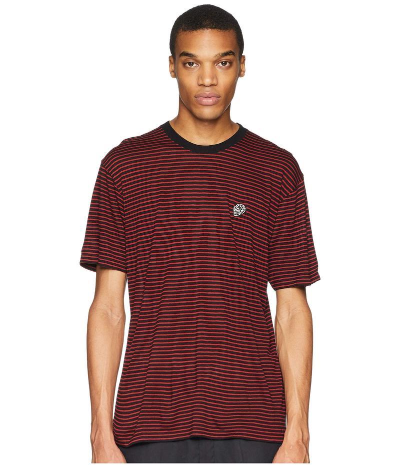 ザ・クープルス メンズ シャツ トップス Stripe T-Shirt Black/Red