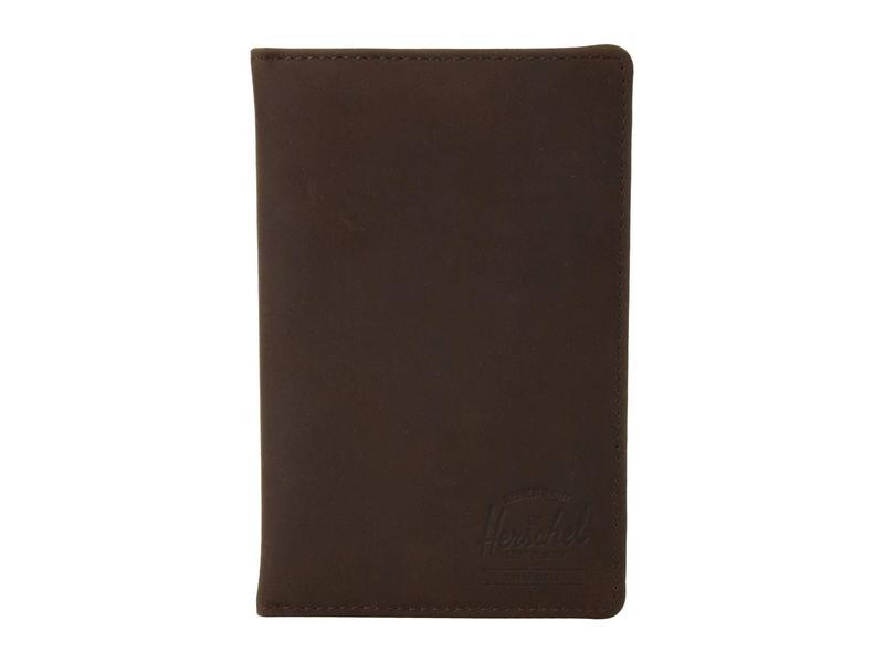 ハーシェルサプライ メンズ 財布 アクセサリー Search Leather RFID Nubuck Brown Leather