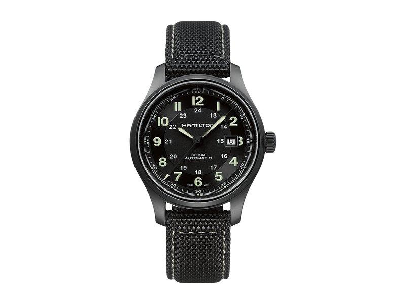 ハミルトン メンズ 腕時計 アクセサリー Khaki Titanium - H70575733 Black