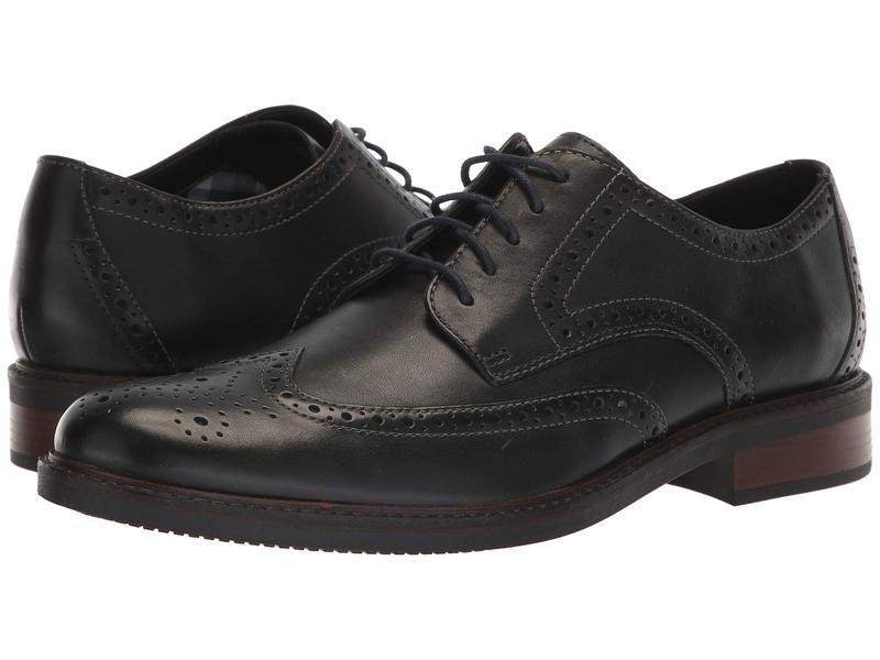 ボストニアン メンズ オックスフォード シューズ Maxton Wing Black Leather