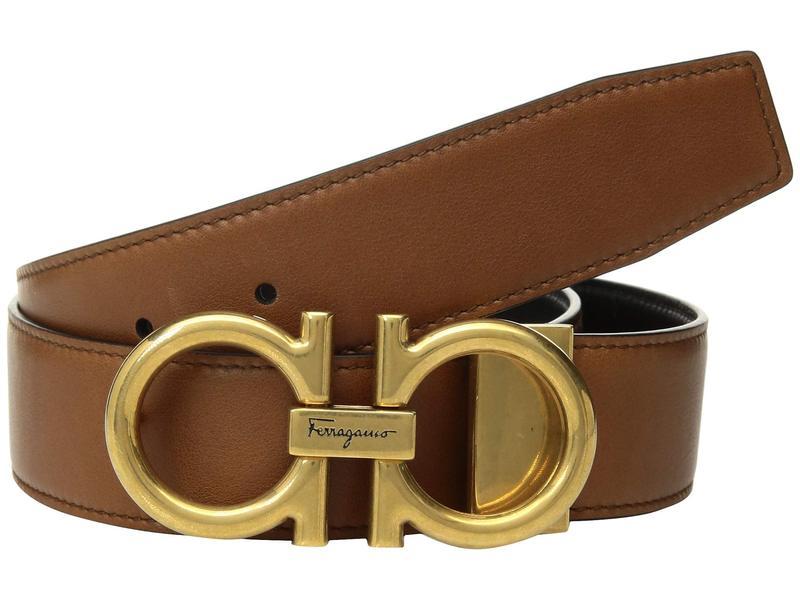 サルヴァトーレ フェラガモ メンズ ベルト アクセサリー Adjustable/Reversible Belt - 679974 Radica/Black