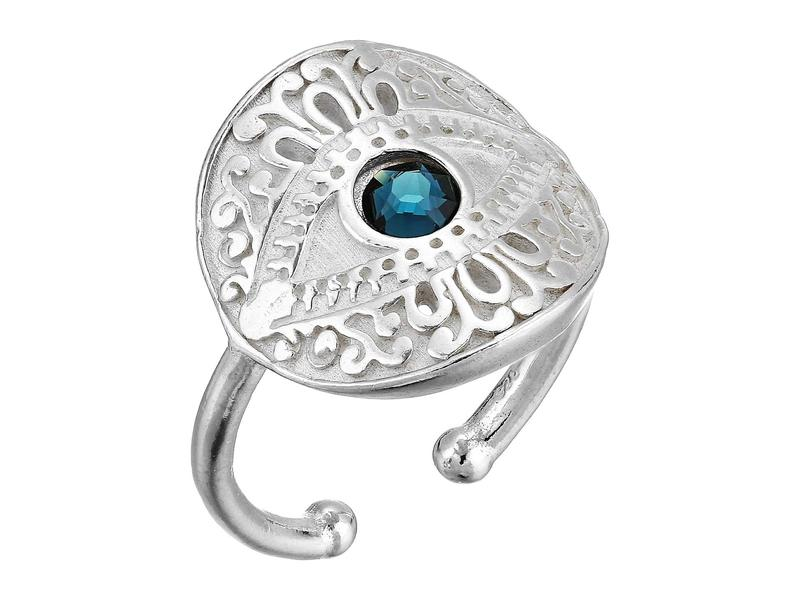 アレックスアンドアニ レディース リング アクセサリー Evil Eye Statement Adjustable Ring - Precious Metal Sterling Silver