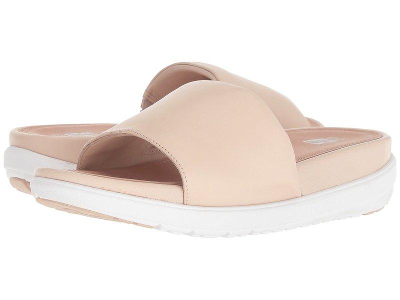 フィットフロップ レディース サンダル シューズ Loosh Luxe Leather Slide Sandals Nude Leather