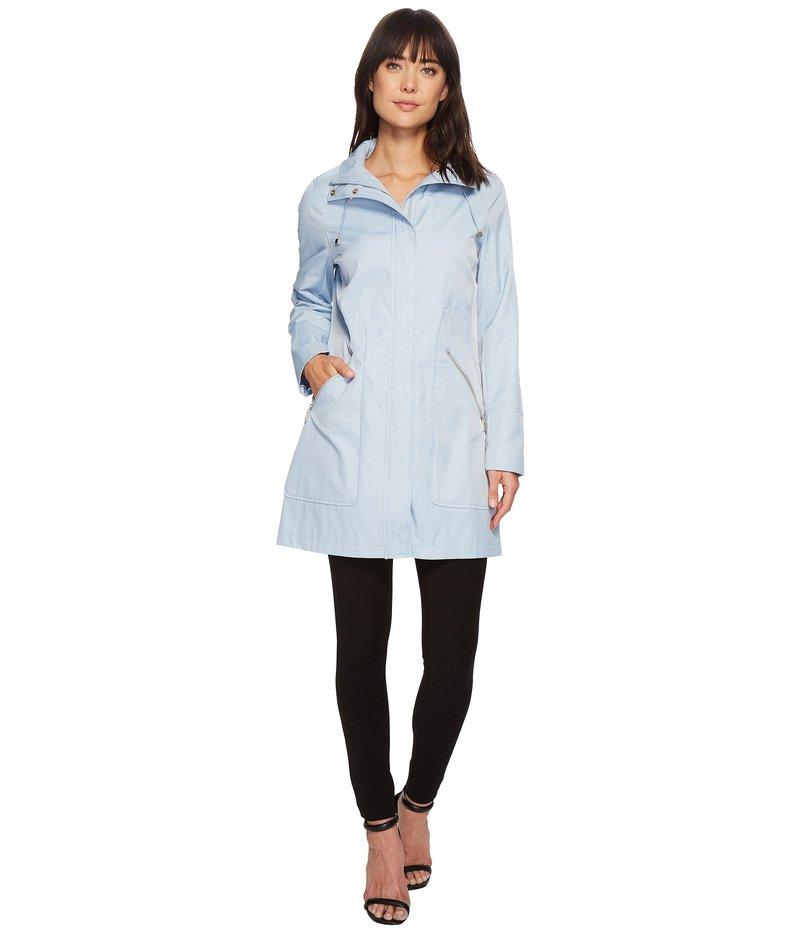 イヴァンカ・トランプ レディース コート アウター Zipper Front Oversized Pocket Hooded Raincoat Sky