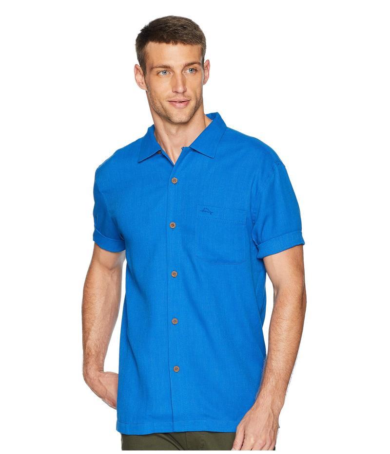 トッミーバハマ メンズ シャツ トップス Royal Bermuda Camp Shirt Coabalt Sea