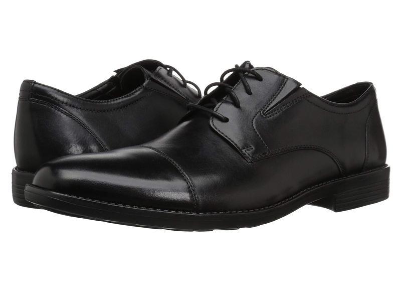 ボストニアン メンズ オックスフォード シューズ Birkett Cap Black Leather