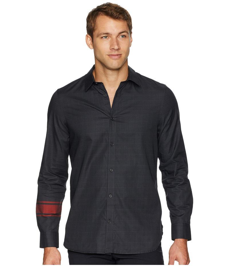 カルバンクライン メンズ シャツ トップス Long Sleeve Engineered Glenn Plaid Button Down Black