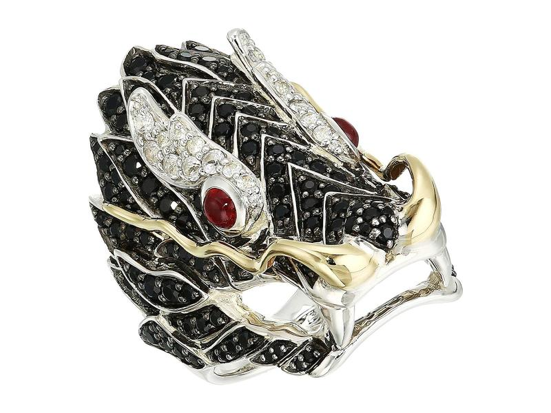 ジョン・ハーディー レディース リング アクセサリー Legends Naga Lava Dragon Ring with Ruby On The Eyes, Black Sapphire and White Sapphire Gold/Silver