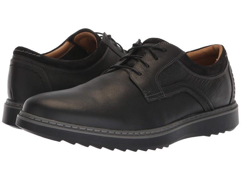 クラークス メンズ オックスフォード シューズ Un Geo Lace Black Leather