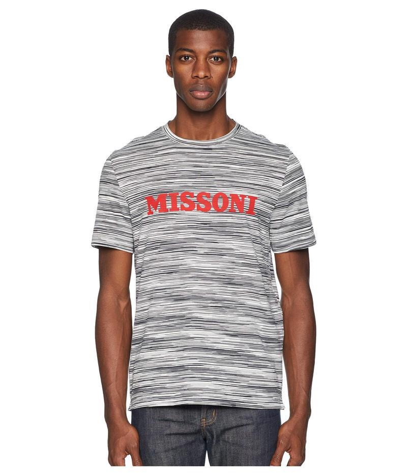 ミッソーニ メンズ シャツ トップス Printed Jersey T-shirt Black/White