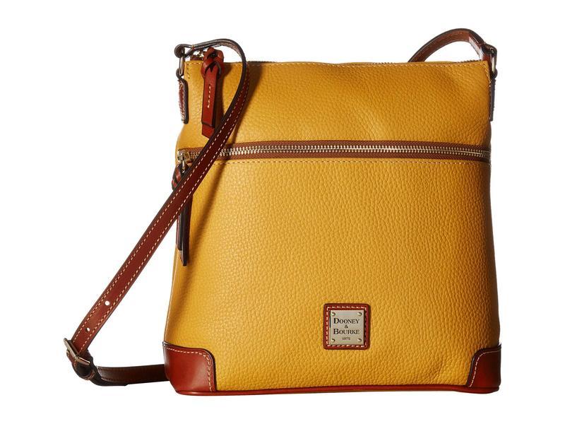 ドーネイアンドバーク レディース ハンドバッグ バッグ Pebble Leather Crossbody Saffron/Tan Trim