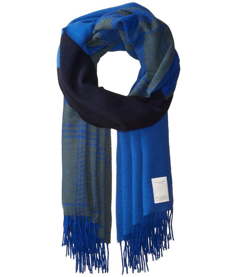 ラグアンドボーン レディース マフラー・ストール・スカーフ アクセサリー Mixed Check Scarf Bright Blue Multi