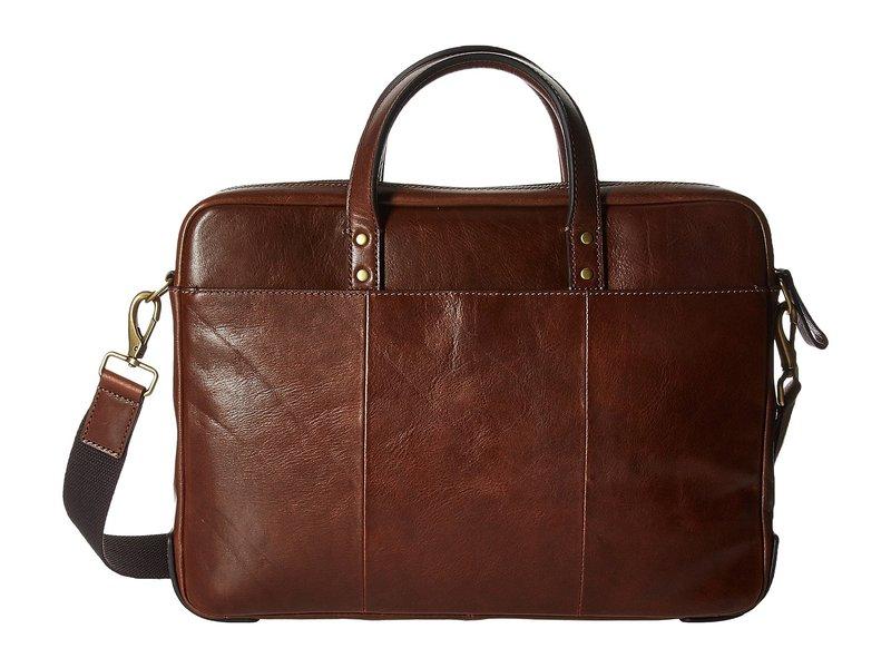フォッシル メンズ ビジネス系 バッグ Haskell Workbag Cognac