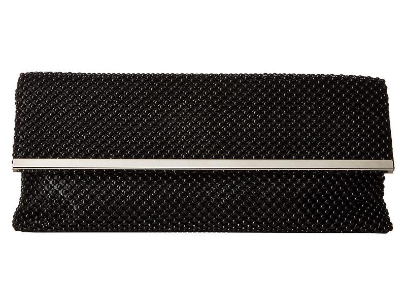 ジェシカマッククリントック レディース ハンドバッグ バッグ Kandi East/West Ball Mesh Clutch with Bar Treatment Black