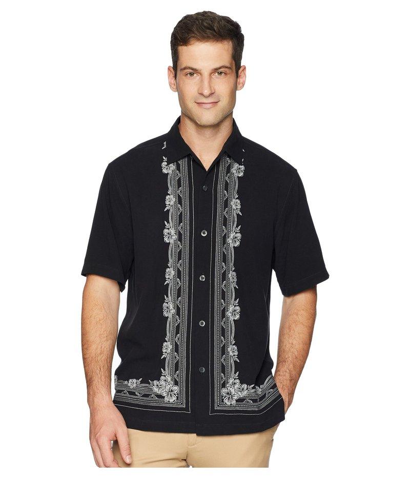 トッミーバハマ メンズ シャツ トップス Cambio Tiles Camp Shirt Black