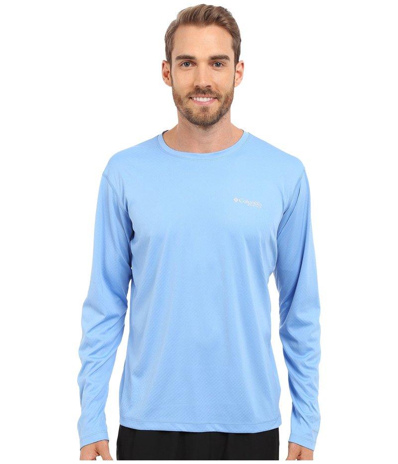コロンビア メンズ シャツ トップス PFG ZERO Rules L/S Shirt White Cap