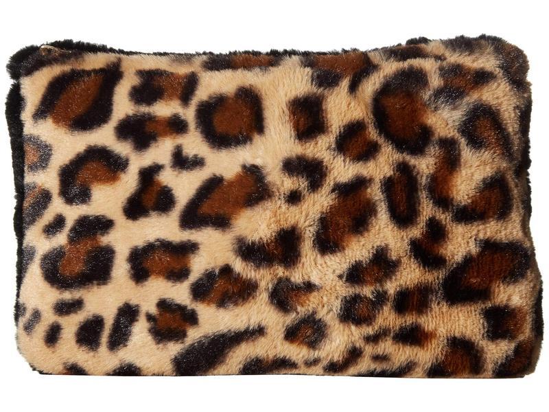 ハットアタック レディース ハンドバッグ バッグ Faux Fur Color Block Clutch Leopard/Black