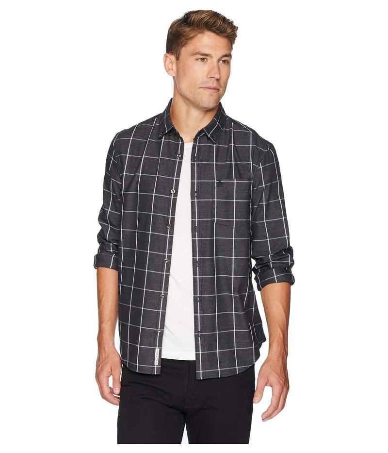オリジナルペンギン メンズ シャツ トップス Long Sleeve Jasper Windowpane Shirt True Black